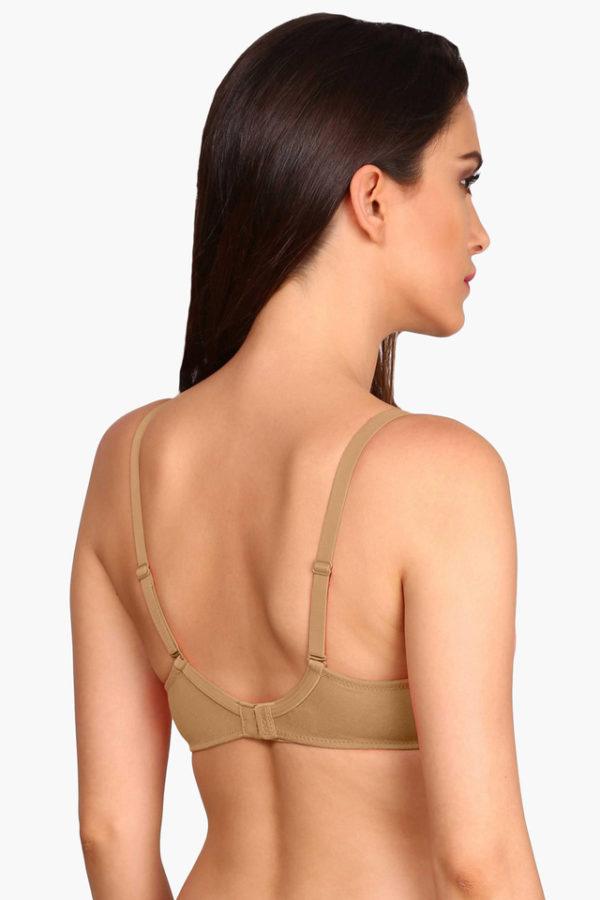 JOCKEY Womens Padded Underwired Solid T-Shirt Bra
