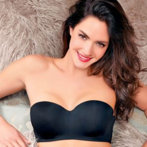 ENAMOR WOMENS SOLID PADDED WIRED STRAPLESS BRA