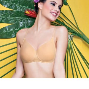 ENAMOR FEMALE PADDED NON WIRED SOLID T-SHIRT BRA