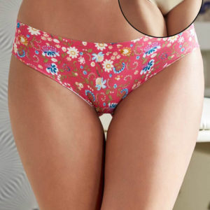 ZIVAME NO PANTY LINE LASER CUT FLORAL ADDICTION N SOLID BRIEFS