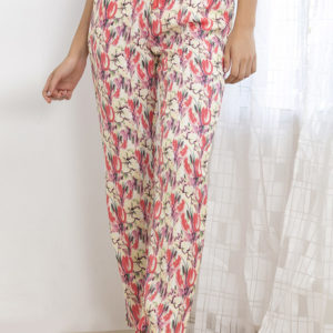 ZIVAME FLOWERS AND FRILLS SLEEP PYJAMA