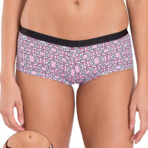 JOCKEY BRIEF COTTON BOYSHORTS BRIEF PINK N BLACK PRINT