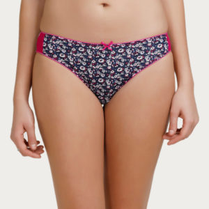 ZIVAME BRIEF BLUE LOW RISE BIKINI BRIEF BLUE PRINT