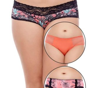 ZIVAME ULTRA SOFT PEACH PUNCH HIPSTER BRIEF