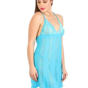 HALTER NECK BABYDOLL WITH RACER BACK