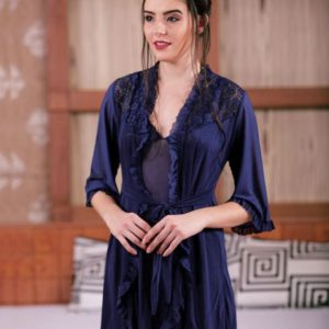 LACE SLING BABYDOLL WITH ROBE ATTACHED