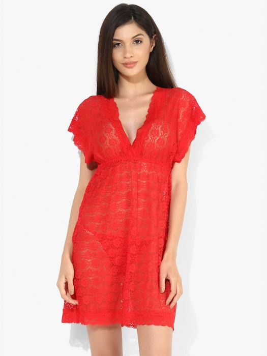 CUT FIT & FLARE LACE BABYDOLL