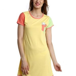 YELLOW SOFT SLEEP SHIRT